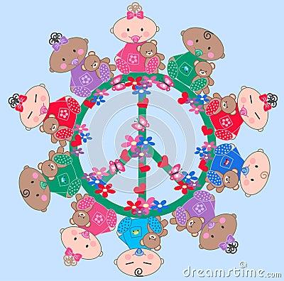 Ethnic mixed babies