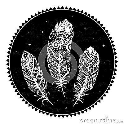 Ethnic ornamental feathers
