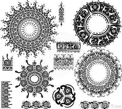 Ethnic ornamental rosettes