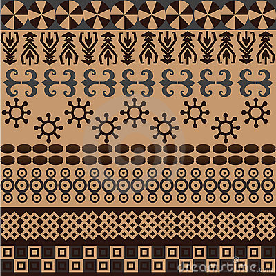 Ethnic Pattern With African Symbols&ornaments Stock Image - Image: 12784911