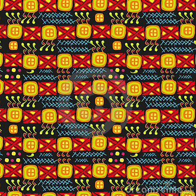 Ethnic primitive art ornamental texture