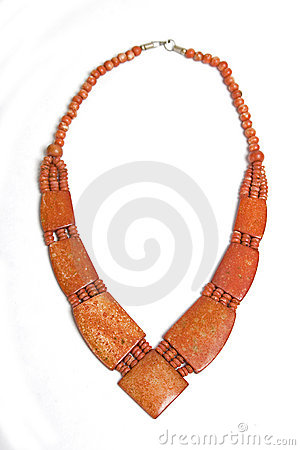 Free Ethnic Red Necklace Royalty Free Stock Photography - 13072247