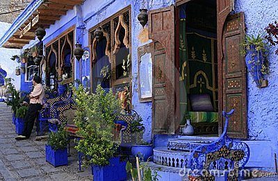 Ethnic restaurant in Chefchaouen, Morocco