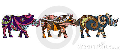 Ethnic Rhino Stock Photo - Image: 16654440