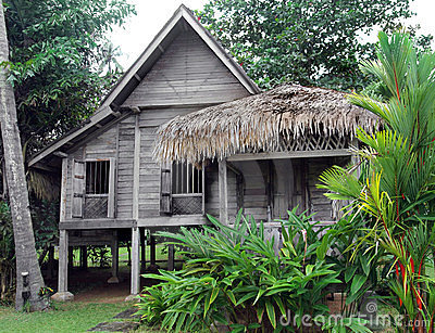 Ethnic rural southeast asian house on stilts
