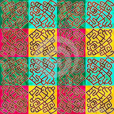 Ethnic seamless abstract pattern