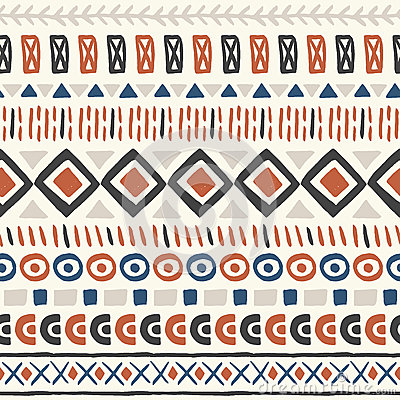 Ethnic seamless pattern aztec geometric background hand drawn navajo
