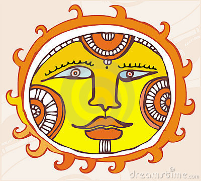 Ethnic Sun. design element
