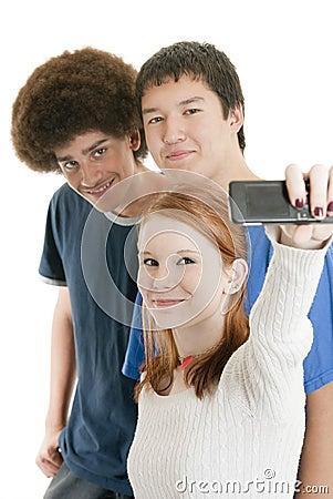 Ethnic teen friends