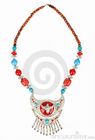 Ethnic Tibetan necklace with yak symbol