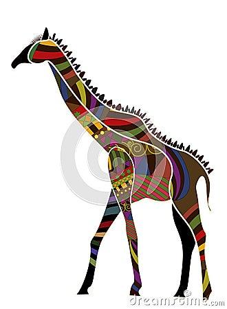 Ethnische Giraffe
