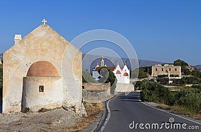 Etia traditional village at Crete island