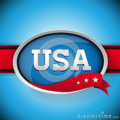 Etichetta o bottone di U.S.A.