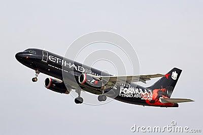 Etihad Airways Airbus A320 Editorial Stock Photo