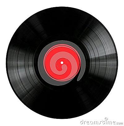 Etikett registrerad röd vinyl