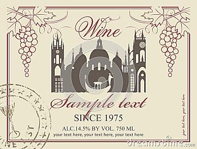Etiqueta do vinho