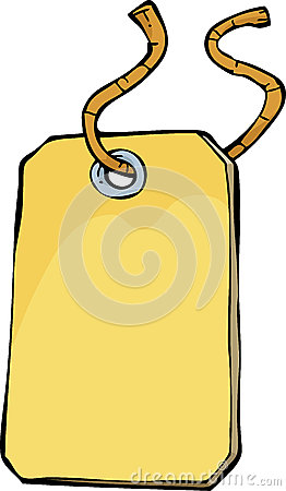 Etiqueta dos desenhos animados