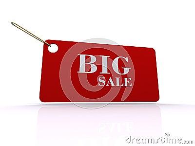 Etiqueta grande de la venta