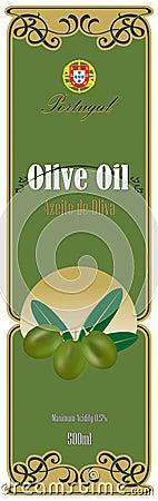 Etiqueta para o petróleo verde-oliva
