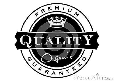 Etiqueta superior da qualidade