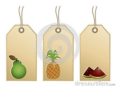 Etiquetas de la fruta