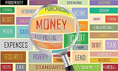 Etiquetas del dinero