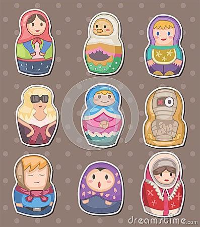Etiquetas engomadas del ruso de la historieta