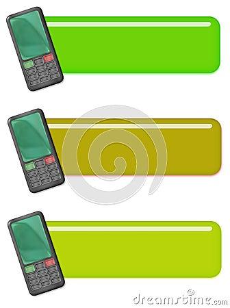 Etiquetas o iconos del teléfono móvil