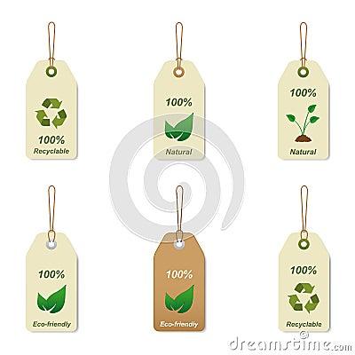 Etiquetas reciclables y naturales