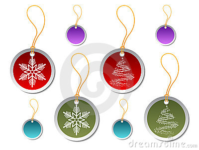 Etiquetas redondas del regalo de la Navidad