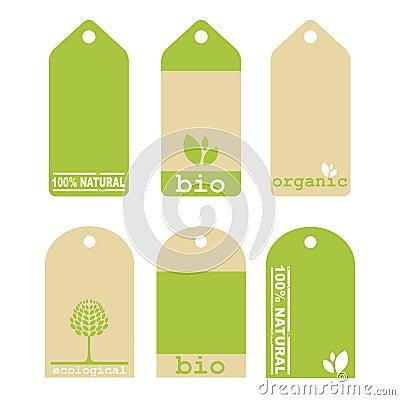 Etiquetas verdes de la ecología