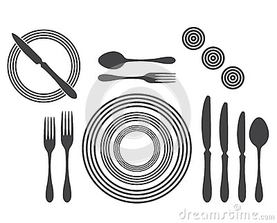 Royalty Free Stock Images: Etiquette Proper Table Setting