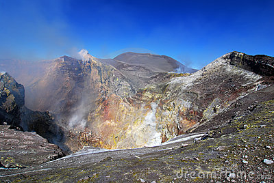 Etna crater in Sicily