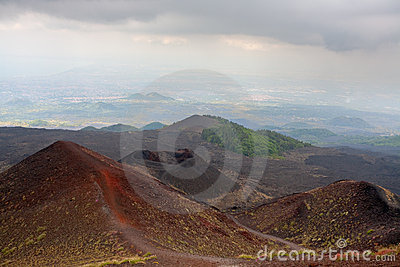 Etna craters, Sicily, Italy