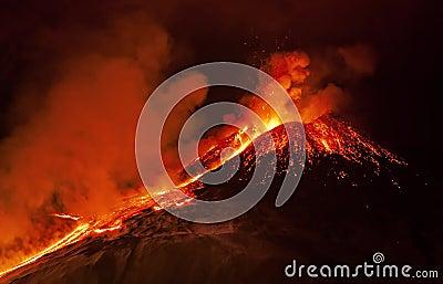 Etna eruption