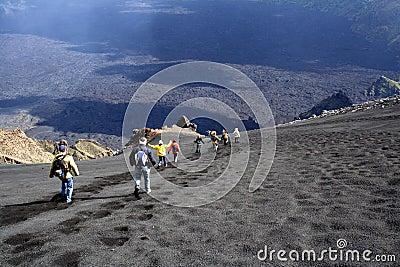 Etna landscape: the descent