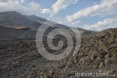 Etna volcano caldera