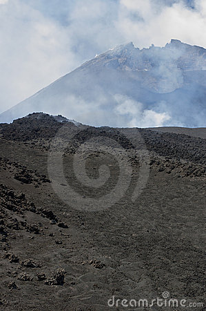 Etna Vulcan landscape