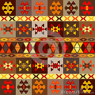 Etnic motifs background, carpet with folk ornaments