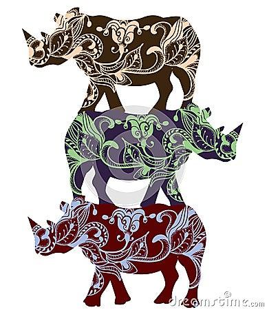 Etniczna nosorożec