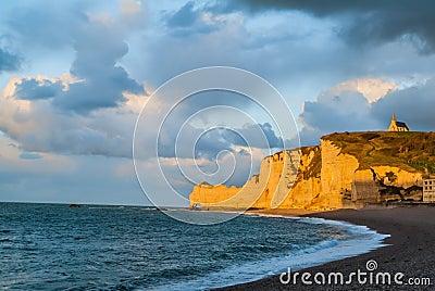 Etretat beach in normandie france Editorial Stock Photo