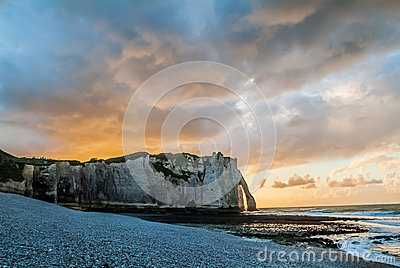 Etretat beach in normandie france Editorial Photography