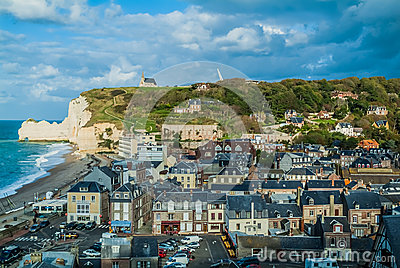Etretat beach in normandie france Editorial Stock Image