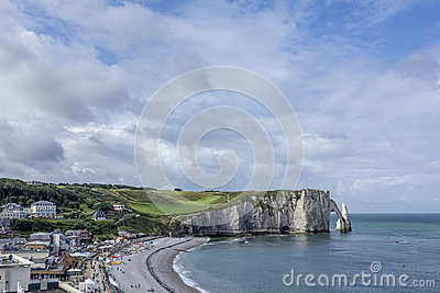 Etretat beach in Normandy France France