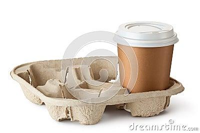 Ett take-out kaffe i hållare