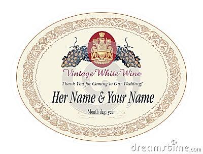 Etykieta ilustracyjny wina wektora