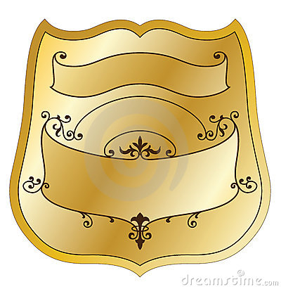 Etykietka złocisty produkt