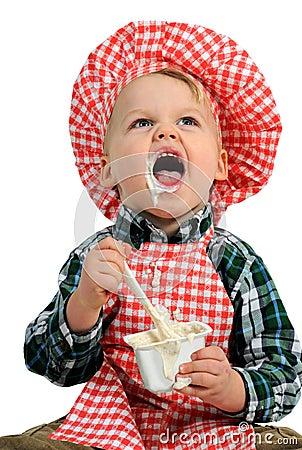 Eu amo o yogurt