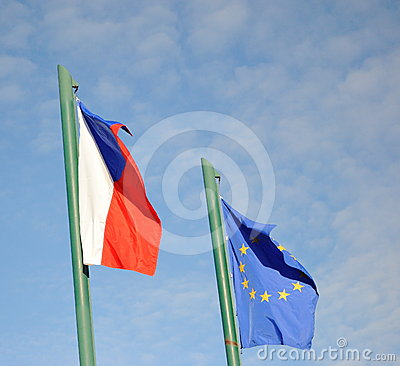 EU & Czech flags