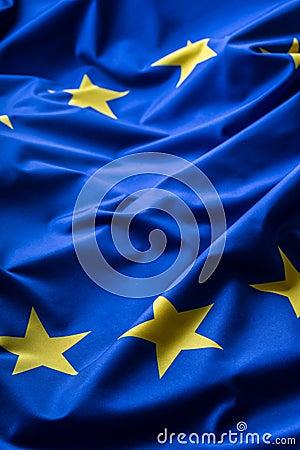 Free EU Flag. Euro Flag. Flag Of European Union Waving In The Wind. Detailed Star Flag Euro Stock Images - 74496124